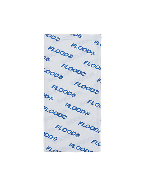 FLOOD PATTERN NECK WARMER / WHITE