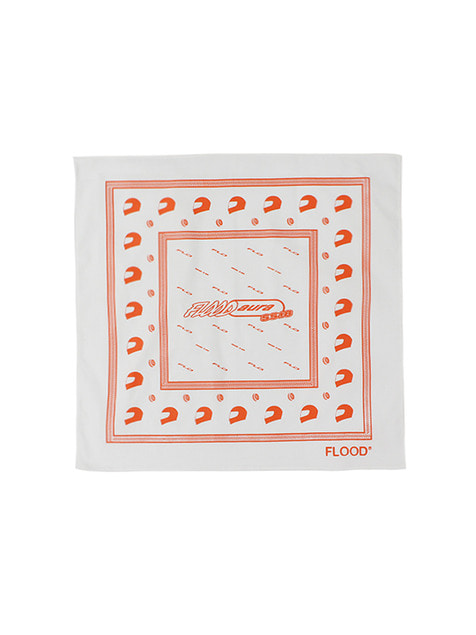 FLOOD SS18 RACING BANDANA / WHITE